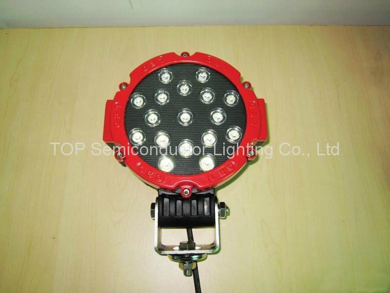 """6.3"""" 51W LED工作燈工程燈行駛燈沙灘燈越野燈 1"""