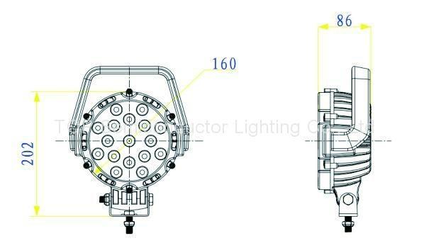 """6.3"""" 51W LED工作燈工程燈行駛燈沙灘燈越野燈 3"""