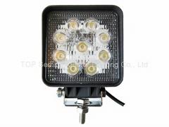 """4.3"""" 方形27W LED工作燈作業燈工程燈檢修燈氾光燈車燈汽車燈越野燈"""