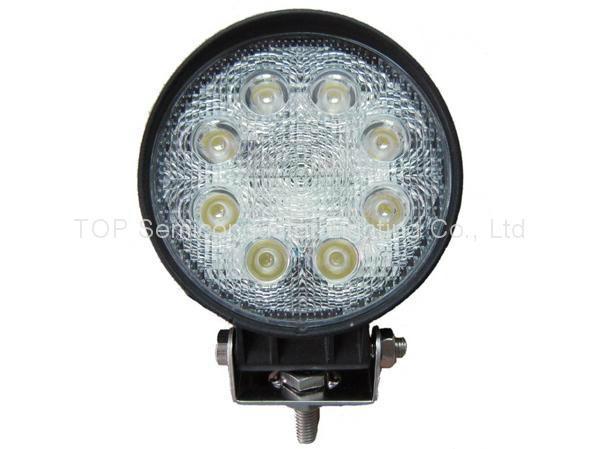 "4.3"" 12V 24V 24W led work flood spot fog roof driving daylight car auto lamps  1"