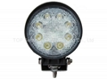"4.3"" 12V 24V 24W led work flood spot fog"
