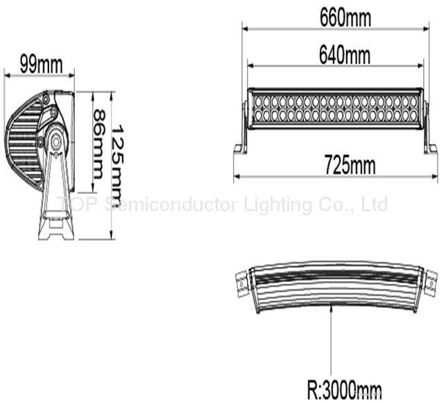 180W 雙排 CREE LED 彎燈 2
