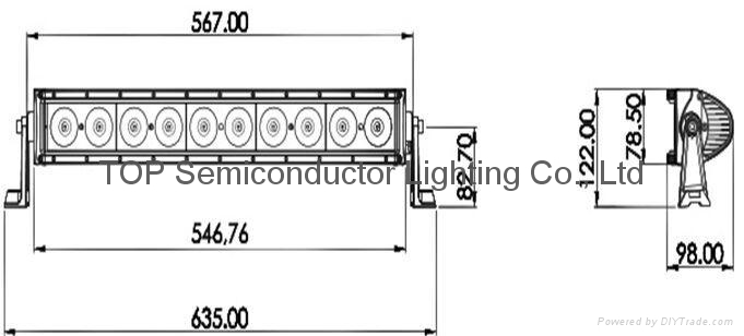 100W 單排CREE LED 彎燈 2