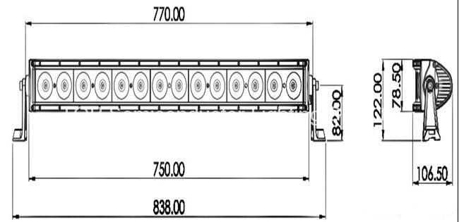 140W 單排CREE LED彎燈 2