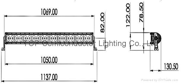 200W 单排CREE LED弯灯 2