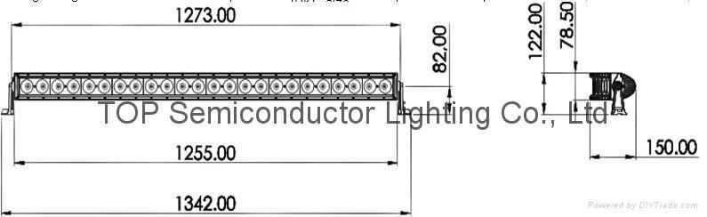 200W 單排CREE LED彎燈 2
