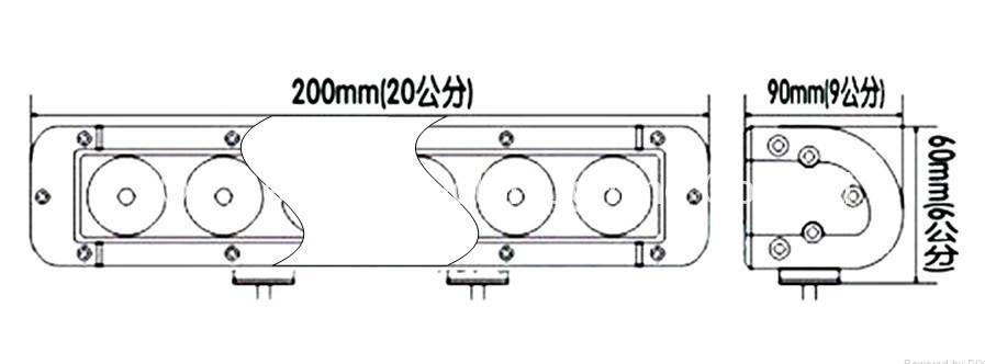 40W 單排CREE單顆10W LED長條燈 3