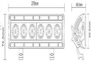 30W Single Row CREE 5W each LED Light Bar 2