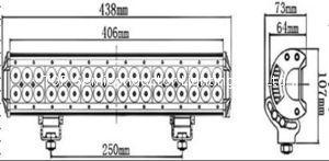 180W doulbe Row CREE 3W each LED Light Bar 2
