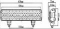 180W 双排CREE单颗3W LED长条灯 2