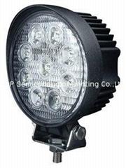 """4.3"""" 圓形27W LED工作燈作業燈車燈汽車燈工程燈越野燈沙灘燈"""
