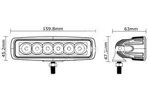 """6.3"""" 18W LED工作灯泛光灯射灯越野灯沙滩灯检修灯 3"""
