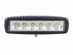 "6.3"" 18W LED work spot flood driving fog lamp truck 4WD off road lights"