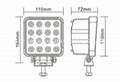 """4.3"""" 48W  LED工作燈氾光燈沙灘燈越野燈檢修汔車燈燈頭燈日行燈 3"""