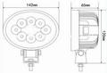 "5.5"" 24W 10-60V  椭圆 LED 工作灯泛光灯沙滩灯越野灯检修灯日行灯 4"