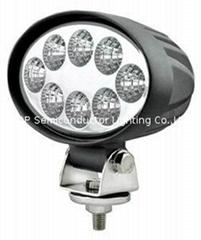 24W oval LED work lamp,L