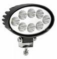 "5.5"" 24W 10-60V  椭圆 LED 工作灯泛光灯沙滩灯越野灯检修灯日行灯 2"