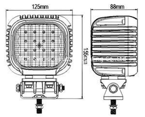 48W LED 工作灯,泛光灯,沙滩灯 4