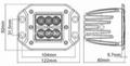 """4.8"""" 18W CREE LED 工作灯越野灯泛光灯沙滩灯检修灯 4"""