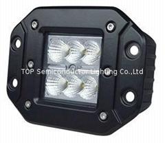 "4.8"" 18W CREE LED work light flood spot off road truck fog driving lamp ATV SUV"