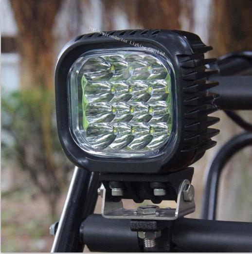 """5"""" 48W CREE LED 工作灯泛光灯沙滩灯越野灯检修灯 6"""