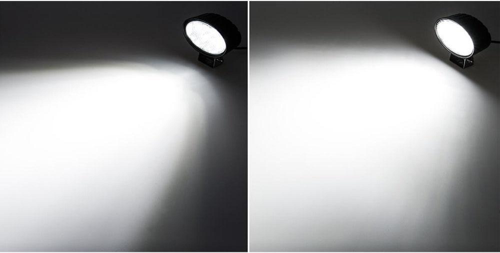 "5.5"" 24W 10-60V  椭圆 LED 工作灯泛光灯沙滩灯越野灯检修灯日行灯 5"