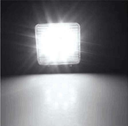"""4.3"""" 方形27W LED工作燈作業燈工程燈檢修燈氾光燈車燈汽車燈越野燈 3"""