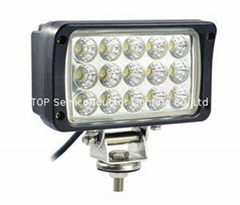 "6""  45W LED auto work lamp truck offroad driving light 4x4 ATV SUV"