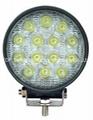 """4.6"""" 42W  LED工作燈氾光燈沙灘燈越野燈檢修汔車燈燈頭燈日行燈 1"""