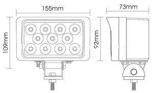 "6"" 33W  LED工作灯泛光灯沙滩灯越野灯检修汔车灯灯头灯日行灯 4"