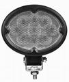 "5.8"" 27W CREE oval LED work light"