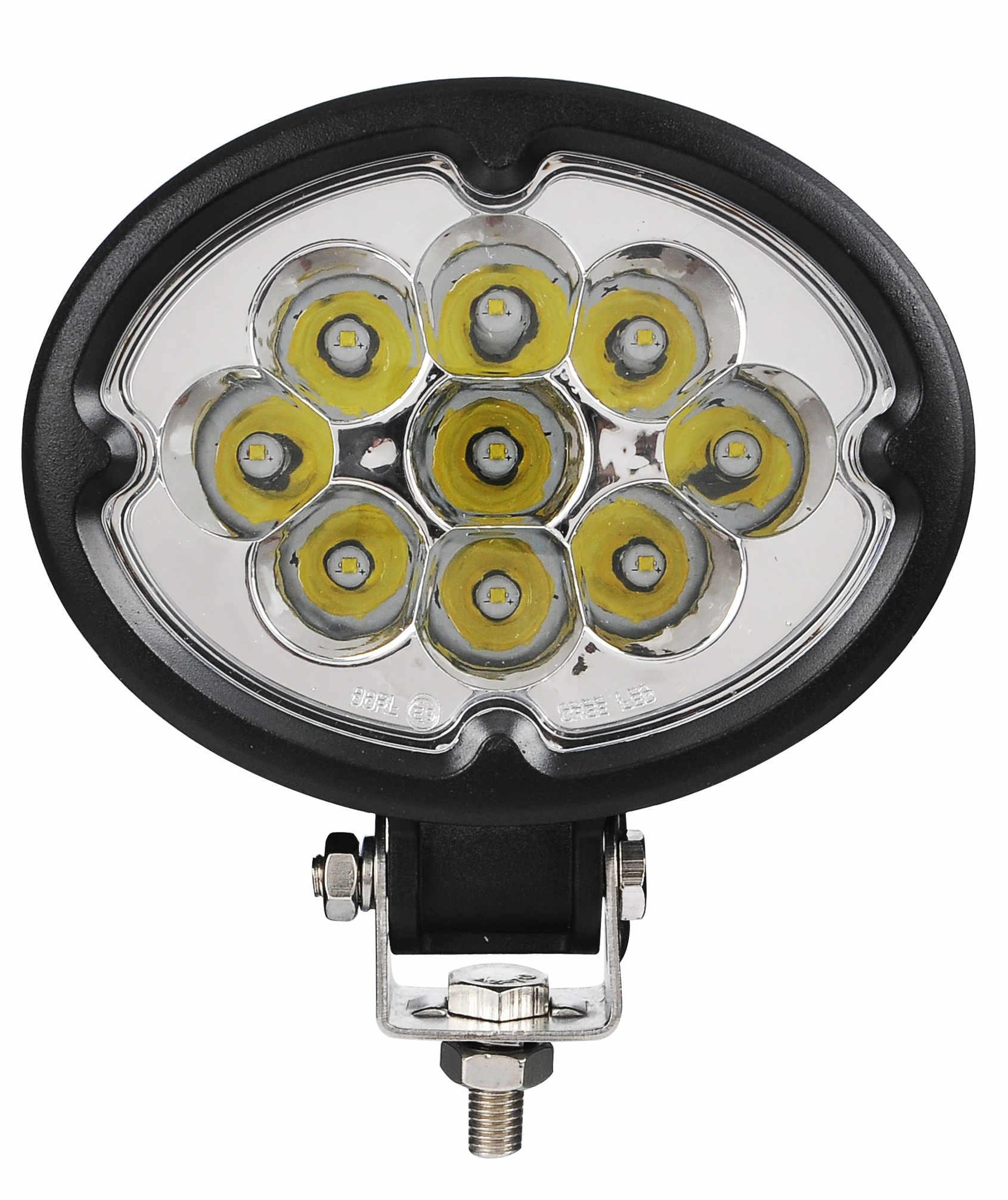 "5.8"" 27W CREE 椭圆形 LED 工作灯泛光灯沙滩灯越野灯驾驶灯 3"