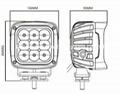 "5.3"" 90W CREE LED work flood driving lamp forklift off road lighting ATV SUV  6"