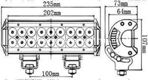 三排CREE灯珠直条工作灯泛光聚光驾驶灯越野灯4WD ATV SUV  6