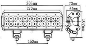 三排CREE燈珠直條工作燈氾光聚光駕駛燈越野燈4WD ATV SUV  8