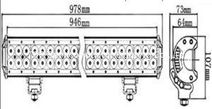 三排CREE灯珠直条工作灯泛光聚光驾驶灯越野灯4WD ATV SUV  20