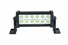 Dual Row Epistar LED Straight light bar work flood spot driving off road vehicle