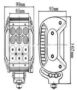 四排CREE灯珠直条工作灯泛光聚光驾驶灯越野灯4WD ATV SUV  2