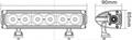 CREE 10W/LED 工作灯泛光聚光驾驶灯越野灯4WD ATV SUV  4