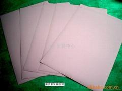 Zinc oxide resin coated paper
