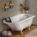 Clawfoot cast iron bathtub 2