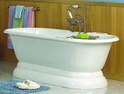 Clawfoot cast iron bathtub 3