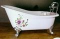 Clawfoot cast iron bathtub 4