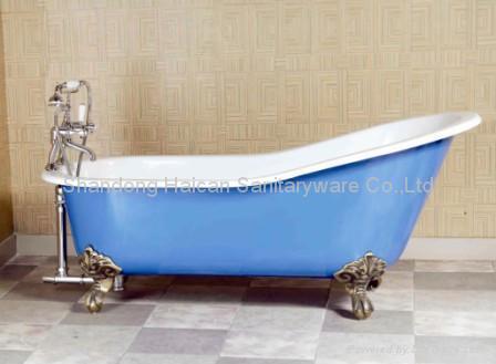 Best quality clawfoot cast iron bathtub hot selling 1