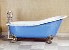 Best quality clawfoot cast iron bathtub hot selling