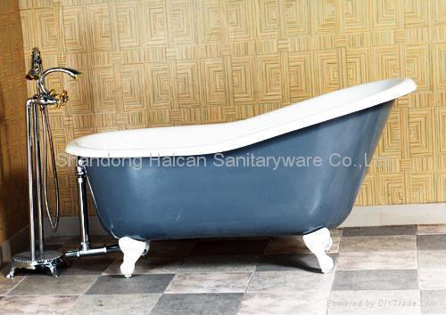 Best quality clawfoot cast iron bathtub hot selling 2