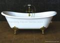 Best quality clawfoot cast iron bathtub hot selling 5