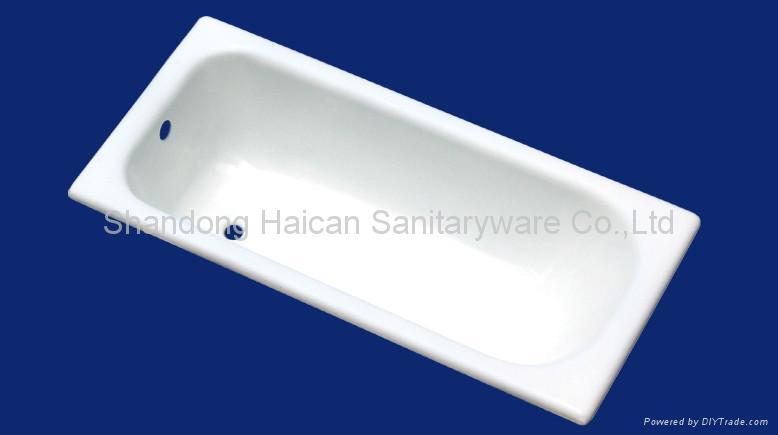 Enamel cast iron bathtub 1700*700*400mm 2