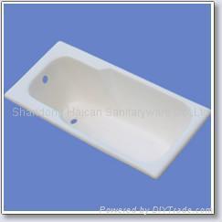 Enamel cast iron bathtub 1700*700*400mm 4