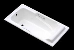 Porcelain  Retangular Cast iron enamel bathtub 1700/700
